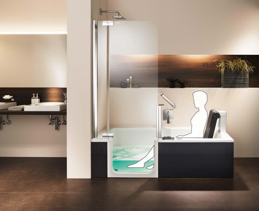 wird der komfort hebesitz nicht bentigt lsst er sich einfach hochklappen und als rckenlehne verwenden - Badezimmer Dusche Oder Badewanne